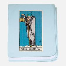 THE HERMIT TAROT CARD baby blanket