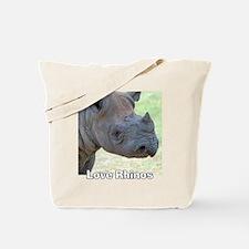 Love Rhinos Tote Bag