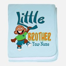 Monkey Little Brother baby blanket