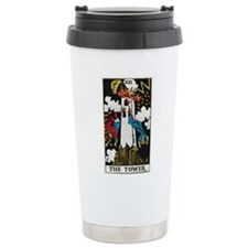 THE TOWER TAROT CARD Travel Mug