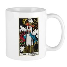 THE TOWER TAROT CARD Mugs