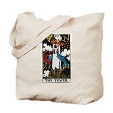THE TOWER TAROT CARD Tote Bag