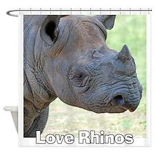 Love Rhinos Shower Curtain
