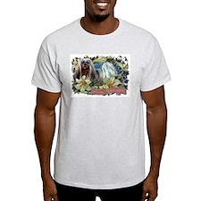 Lhasa Apso Easter Spring Love Ash Grey T-Shirt