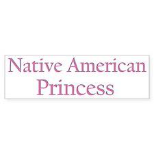 nativeamericanprincess.png Bumper Bumper Sticker