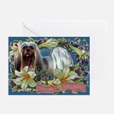 Lhasa Apso Easter Spring Love Greeting Cards (Pack