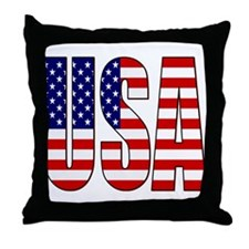 EUA / USA Throw Pillow