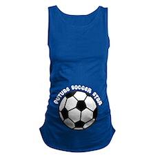 Future Soccer Star Pregnancy Maternity Tank Top