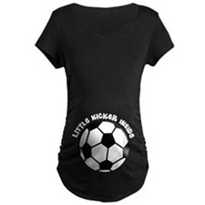 Soccer Ball Little Kicker Inside Maternity T-Shirt