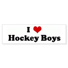 I Love Hockey Boys Bumper Bumper Sticker