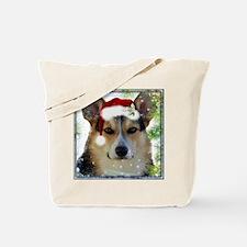 Handsome Holiday Corgi Tote Bag