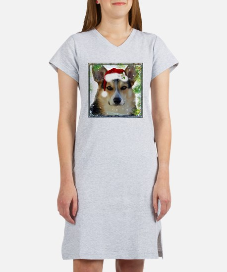 Handsome Holiday Corgi Women's Nightshirt