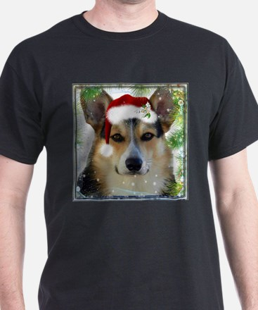 Handsome Holiday Corgi T-Shirt