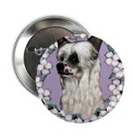 Powder Puff Chinese Crested Button
