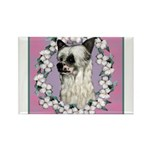 Powder Puff Chinese Crested Rectangle Magnet (100
