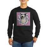Powder Puff Chinese Crested Long Sleeve Dark T-Shi