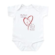 Glen of Imaal Heart Belongs Infant Bodysuit