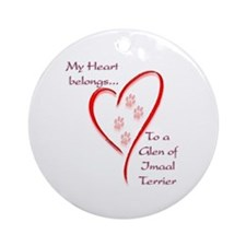 Glen of Imaal Heart Belongs Ornament (Round)