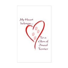Glen of Imaal Heart Belongs Rectangle Decal