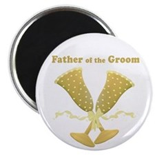 "Golden Father of the Groom 2.25"" Magnet (10 pack)"