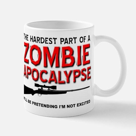 Zombie Apocalypse Excited Mugs