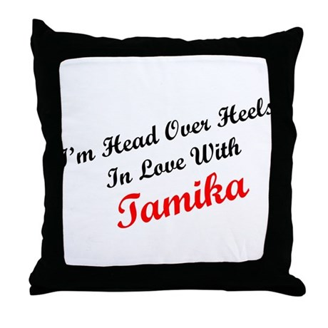 In Love with Tamika Throw Pillow
