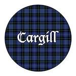 Tartan - Cargill Round Car Magnet