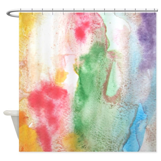 Funky Kitchen Curtains: Funky Paint Arty Shower Curtain By InspirationzStore