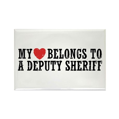 My Heart Belongs to a Deputy Sheriff Rectangle Mag