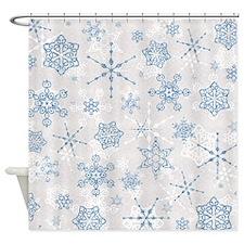 Elegant Blue and Silver Snowflake Glitz Print Show