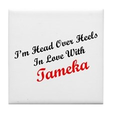 In Love with Tameka Tile Coaster