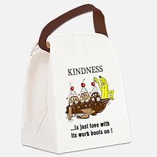 KINDNESS CARTOON Canvas Lunch Bag