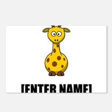 Giraffe Personalize It! Postcards (Package of 8)