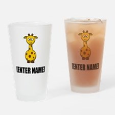 Giraffe Personalize It! Drinking Glass