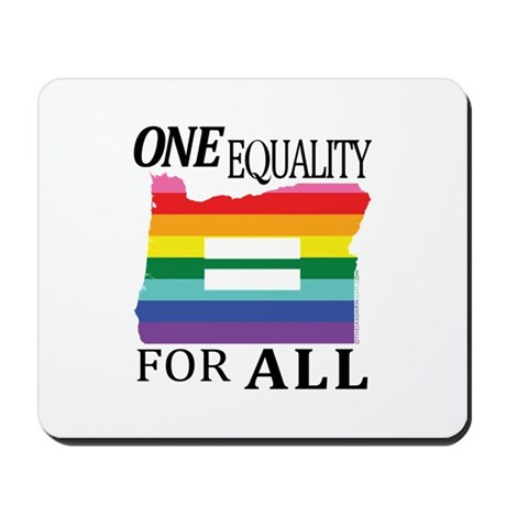 Oregon one equality blk font Mousepad