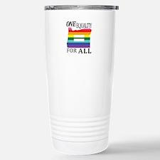 Oregon one equality blk font Travel Mug