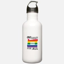 Oregon one equality blk font Water Bottle