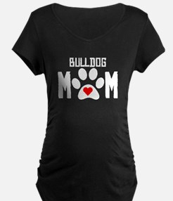 Bulldog Mom Maternity T-Shirt