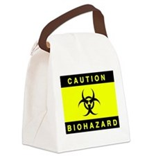 Caution Biohazard Toxic Waste Warning Canvas Lunch
