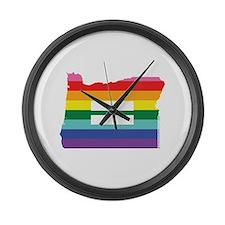 Oregon equality Large Wall Clock