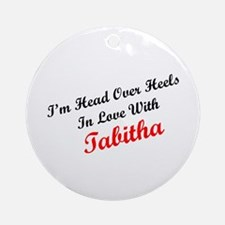 In Love with Tabitha Ornament (Round)