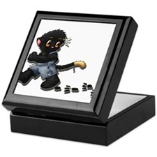Painter Cat Keepsake Box