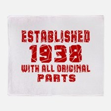Established 1938 With All Original P Throw Blanket