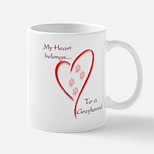 Greyhound Heart Belongs Mug