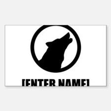 Wolf Personalize It! Decal