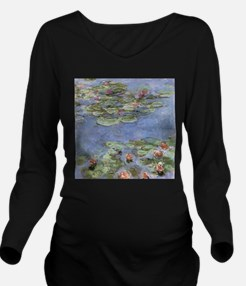 Water Lilies Long Sleeve Maternity T-Shirt