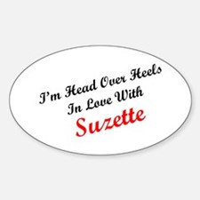 In Love with Suzette Oval Decal