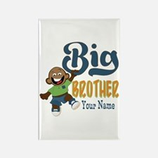 Happy Silly Big Brother Monkey Rectangle Magnet