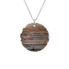 rustic barnwood western coun Necklace