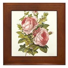 Rose, Myrtle and Ivy Framed Tile
